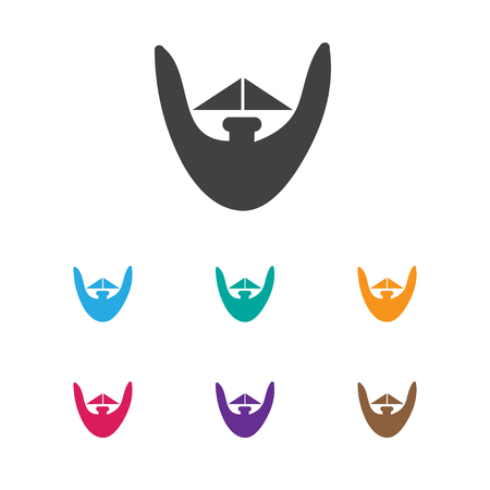 Vector Illustration Of Coiffeur Symbol On Beard Icon. Premium Quality Isolated Goatee Element In Trendy Flat Style.