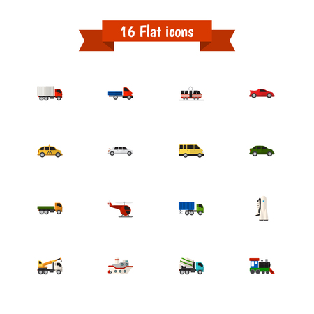 tramcar: Set Of 16 Editable Car Icons. Includes Symbols Such As Truck, Carriage, Sport Car And More. Can Be Used For Web, Mobile, UI And Infographic Design. Illustration