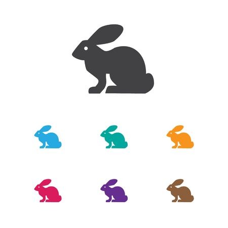 Vector Illustration Of Zoo Symbol On Rabbit Icon. Premium Quality Isolated Bunny Element In Trendy Flat Style. Illustration
