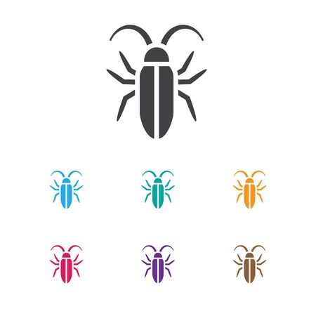Vector Illustration Of Animal Symbol On Insect Icon. Premium Quality Isolated Bug Element In Trendy Flat Style. Illustration