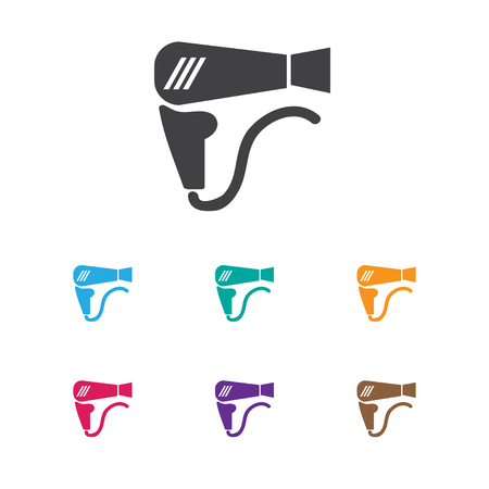 coiffeur: Vector Illustration Of Barbershop Symbol On Airflow Icon. Premium Quality Isolated Desiccative Element In Trendy Flat Style.