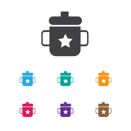 Vector Illustration Of Infant Symbol On Mug Icon. Premium Quality Isolated Goplet Element In Trendy Flat Style.