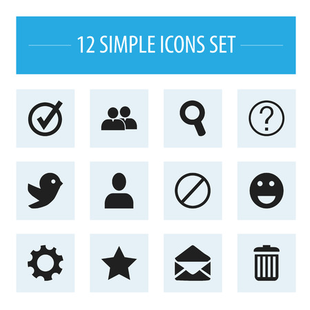 wap: Set Of 12 Editable Internet Icons. Includes Symbols Such As Letter, Recycle Bin, Magnifier And More. Can Be Used For Web, Mobile, UI And Infographic Design.
