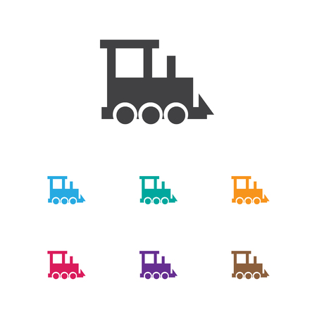 Vector Illustration Of Kid Symbol On Train Icon. Premium Quality Isolated Railway Element In Trendy Flat Style. Ilustração