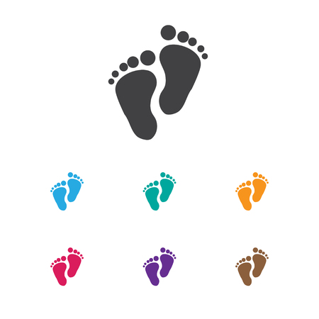 Vector Illustration Of Baby Symbol On Foot Step Icon
