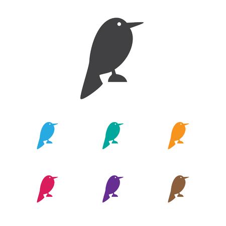 Vector Illustration Of Zoology Symbol On Nightingale Icon