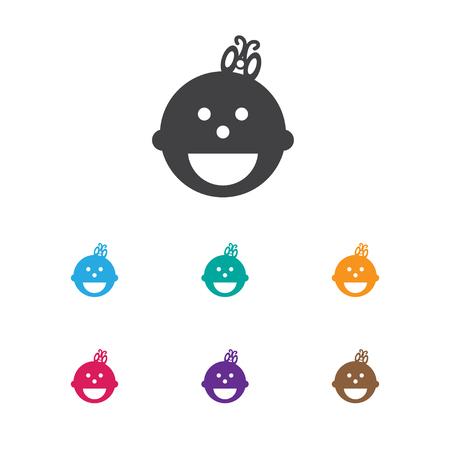 Vector Illustration Of Child Symbol On Childhood Icon Banco de Imagens - 82285015
