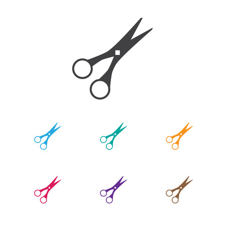 coiffeur: Vector Illustration Of Barbershop Symbol On Cut Tool Icon