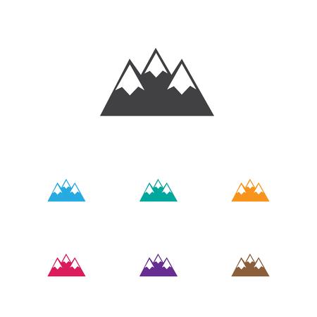 Vector Illustration Of Travel Symbol On Peak Icon Illustration