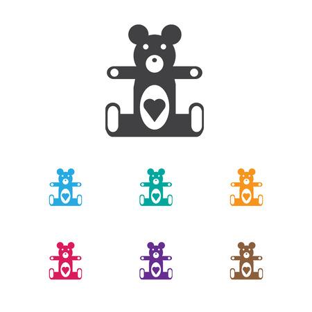 Vector Illustration Of Infant Symbol On Teddy Icon Ilustração