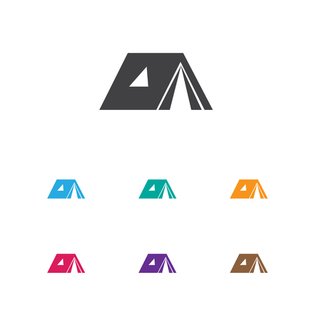 tabernacle: Vector Illustration Of Camping Symbol On Tabernacle Icon Illustration