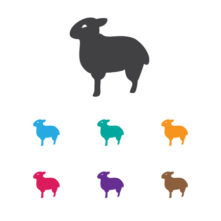 Vector Illustration Of Animal Symbol On Sheep Icon. Premium Quality Isolated Lamb Element In Trendy Flat Style.