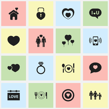 Set Of 16 Editable Amour Icons. Includes Symbols Such As Heartbeat, Home, Dartboard And More. Can Be Used For Web, Mobile, UI And Infographic Design.