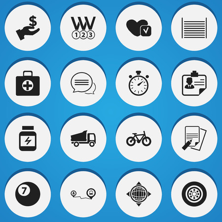 soundness: Set Of 16 Editable Complex Icons. Includes Symbols Such As Navigation, First Aid Box, Soul And More. Can Be Used For Web, Mobile, UI And Infographic Design.