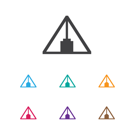 Vector Illustration Of Camping Symbol On Triangle Icon. Premium Quality Isolated Pyramid Element In Trendy Flat Style.