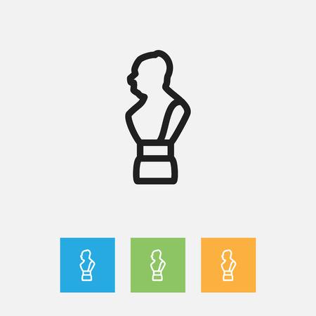 De vectorillustratie van onderwijst Symbool op Standbeeldoverzicht Stock Illustratie