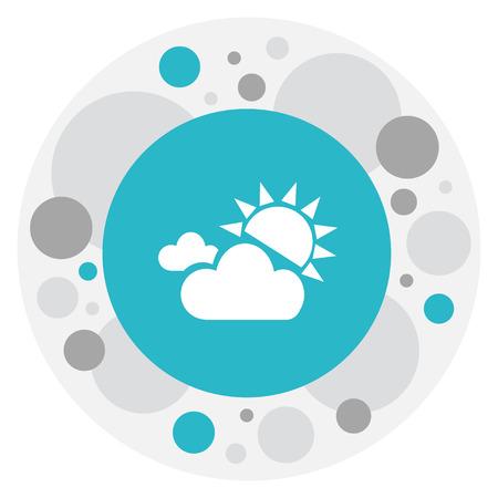 Vector Illustration Of Air Symbol On Sunlight Fog Icon