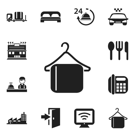 plaza: Set Of 12 Editable Travel Icons. Includes Symbols Such As Restaurant, Check In, Entry And More. Can Be Used For Web, Mobile, UI And Infographic Design.