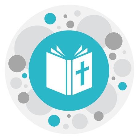 信仰聖書のアイコンをシンボルのベクター イラストです。プレミアム品質は、トレンディなフラット スタイルでユダヤ人の要素を分離しました。 写真素材 - 82408052