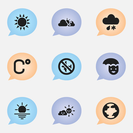 barrage: Set Of 9 Editable Air Icons. Includes Symbols Such As No Flight, Sunlight, Happy Man And More. Can Be Used For Web, Mobile, UI And Infographic Design.