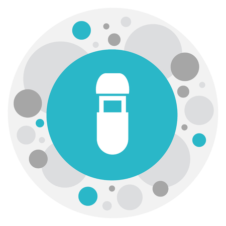 Vector Illustration Of Office Symbol On Flash Drive Icon. Premium Quality Isolated Usb Element In Trendy Flat Style.