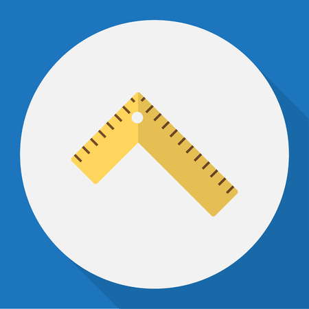 exchanger: Vector Illustration Of Instrument Symbol On Ruler Flat Icon. Premium Quality Isolated Meter  Element In Trendy Flat Style. Illustration