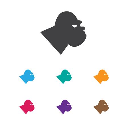 Vector Illustration Of Zoology Symbol On Gorilla Icon Çizim
