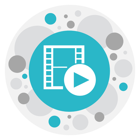 Vector Illustration Of Movie Symbol On Recorded Media Icon Illustration