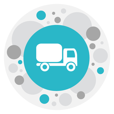 camion: Vector Illustration Of Shipment Symbol On Shipping Transport Icon