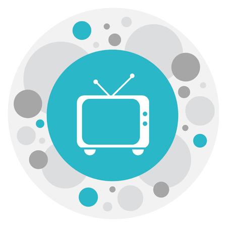Vector Illustration Of Movie Symbol On Retro Tv Icon