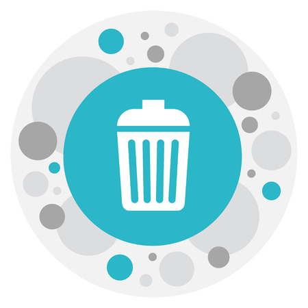 Vector Illustration Of Cleaning Symbol On Garbage Bin Icon