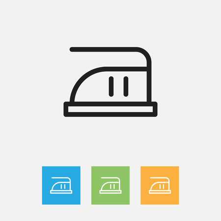 appliances: Vector Illustration Of Cleaning Symbol On Smoothing Outline