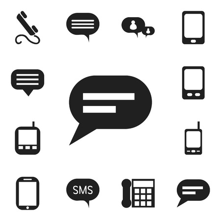 gps device: Set Of 12 Editable Device Icons. Includes Symbols Such As Message, Comment, Chatting And More Illustration