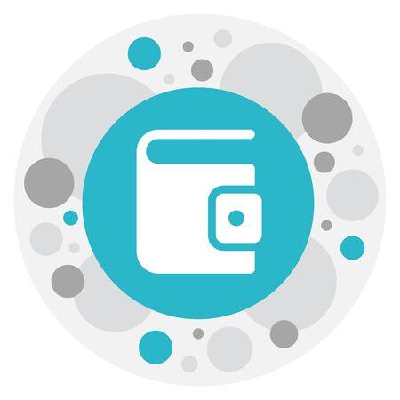 billfold: Vector Illustration Of Business Symbol On Wallet Icon Illustration