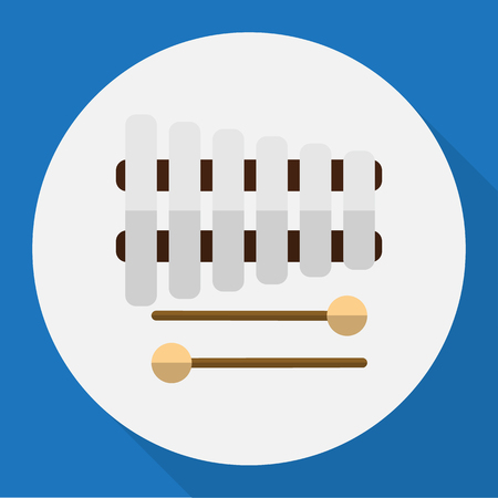 xilofono: Ilustración vectorial de símbolo multimedia en Xylophone Flat Icon