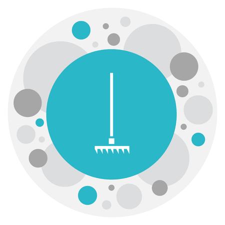 Vector Illustration Of Apparatus Symbol On Harrow Icon Illustration