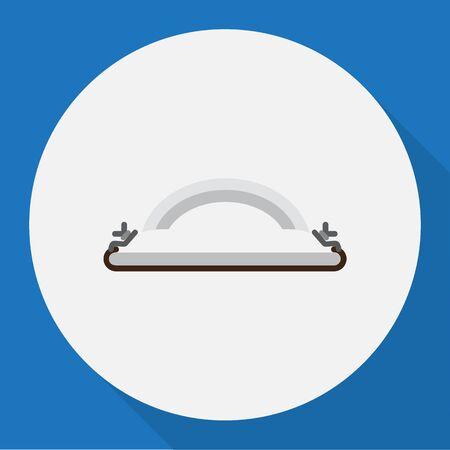 Vector Illustration Of Equipment Symbol On Sandpaper Flat Icon