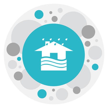 Vector Illustration Of Weather Symbol On House Icon
