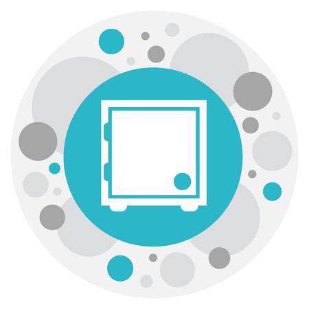 Vector Illustration Of Investment Symbol On Safe Icon Illustration