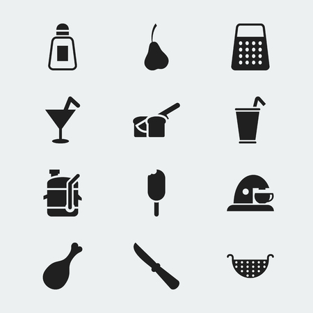 originator: Set Of 12 Editable Cooking Icons. Includes Symbols Such As Saltshaker, Take Away, Bakery And More. Can Be Used For Web, Mobile, UI And Infographic Design. Illustration