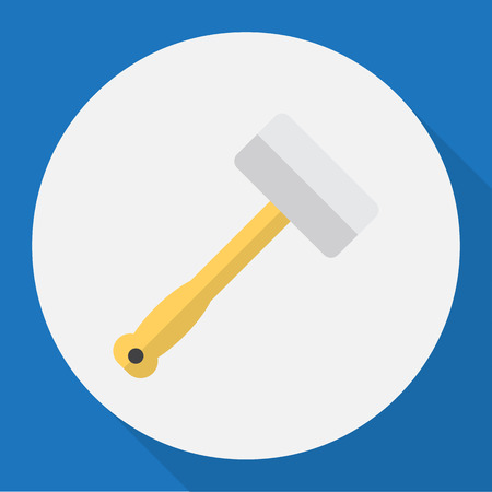 exchanger: Vector Illustration Of Tools Symbol On Metal Bar Flat Icon. Premium Quality Isolated Tool  Element In Trendy Flat Style. Illustration