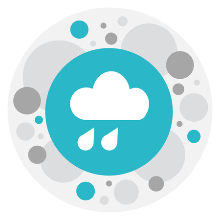 overcast: Vector Illustration Of Air Symbol On Mist Icon. Premium Quality Isolated Precipitation Element In Trendy Flat Style. Illustration
