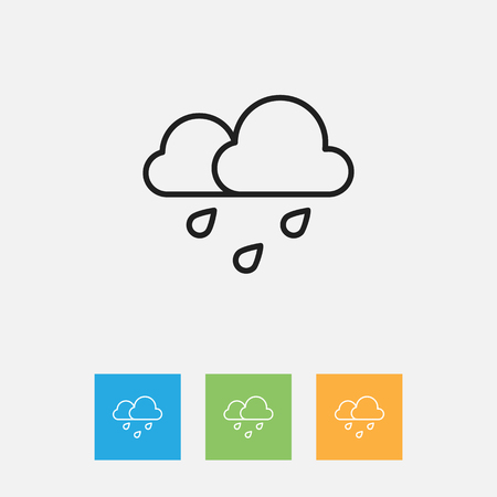 barrage: Vector Illustration Of Weather Symbol On Rain Outline. Premium Quality Isolated Deluge Element In Trendy Flat Style. Illustration