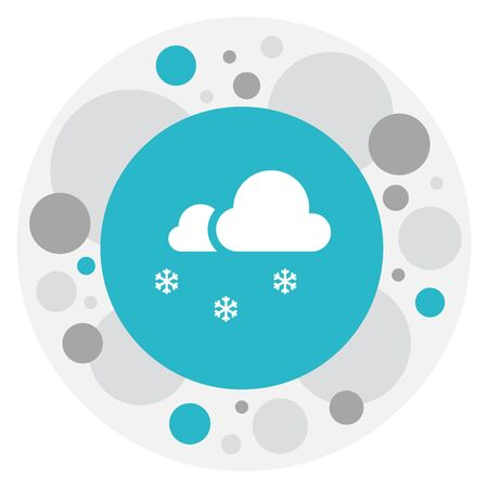 Vector Illustration Of Weather Symbol On Snowcapped Icon. Premium Quality Isolated Covered With Snow Element In Trendy Flat Style. Illustration