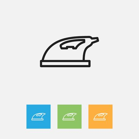 appliances: Vector Illustration Of Cleaning Symbol On Appliance Outline. Premium Quality Isolated Iron Element In Trendy Flat Style.