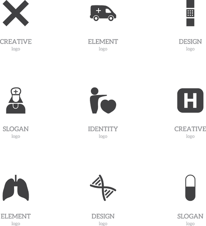 Set Of 9 Editable Clinic Icons. Includes Symbols Such As Genome, No Check, Wound Band. Can Be Used For Web, Mobile, UI And Infographic Design. Illusztráció