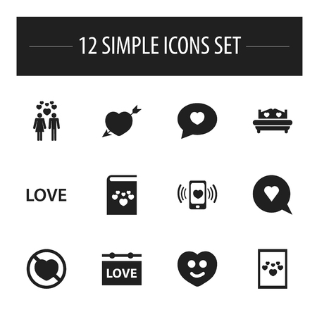 Set Of 12 Editable Passion Icons. Includes Symbols Such As Mattress, Textbook, Passion And More. Can Be Used For Web, Mobile, UI And Infographic Design.