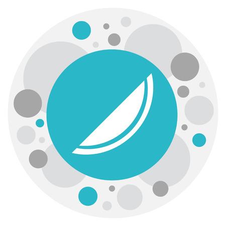 Vektor-Illustration von Berry Symbol auf Cantaloupe Icon Standard-Bild - 82673204