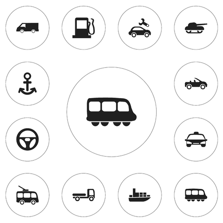 freight train: Set Of 12 Editable Shipment Icons. Includes Symbols Such As Shipping, Taxi, Carriage And More