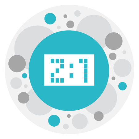 Vector Illustration Of Complex Symbol On Score Icon. Premium Quality Isolated Result  Element In Trendy Flat Style.